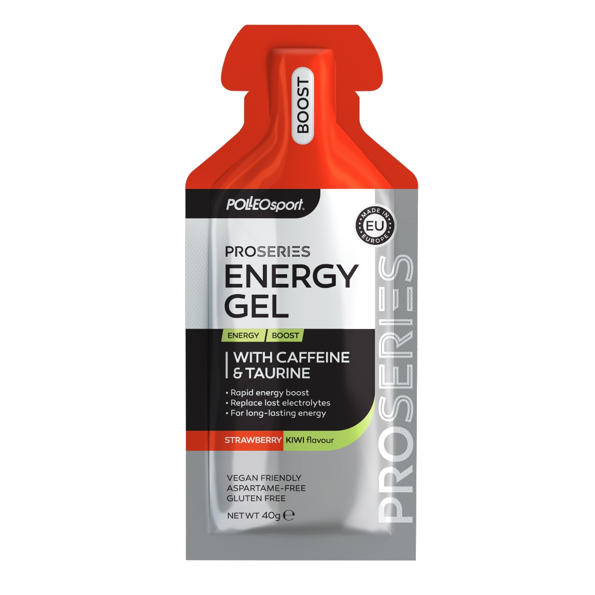 Energy Boost gel with Caffeine Taurin- Strawberry- Kiwi (002)