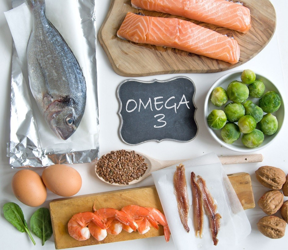 58035745 - collection of foods high in fatty acids omega 3 including seafood, vegetables and seeds