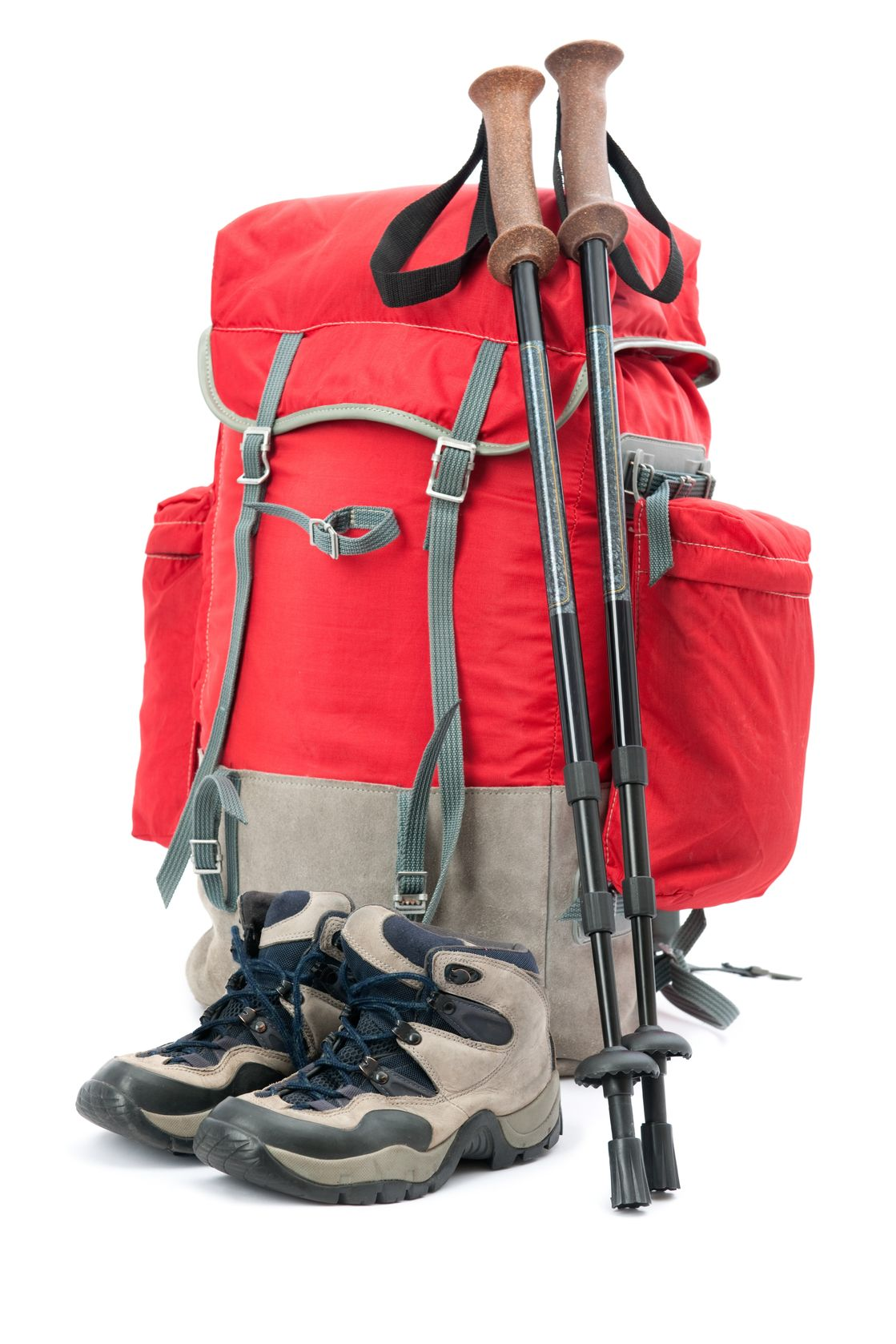 7376245 - hiking equipment, rucksack and boots